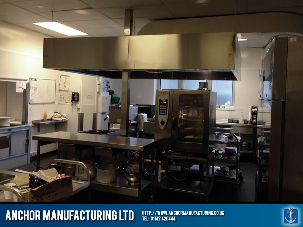 A private Sheffield hospital kitchen canopy. & Kitchen Canopy Installation - Private Sheffield Hospital | Anchor ...