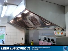 Public House kitchen canopy hood.