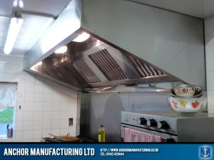 Public House kitchen canopy hood.