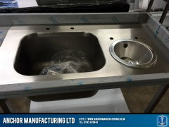 Butchers sink unit with wash basin.