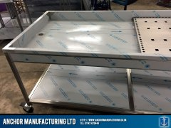 Bespoke made mortuary table