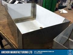 Fabricated steel sink shell
