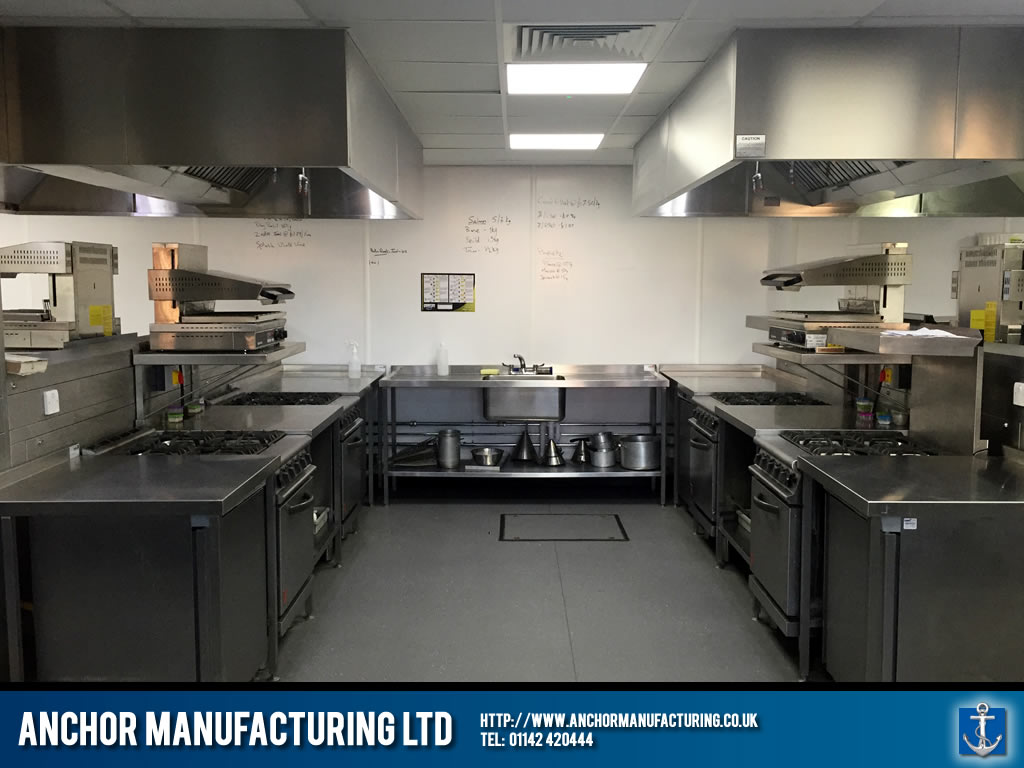 Training Kitchen Designed Fabricated Installed Anchor Manufacturing Ltd