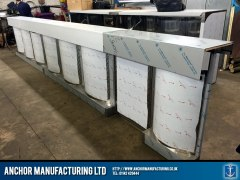 Steel Chip shop counter fabricated