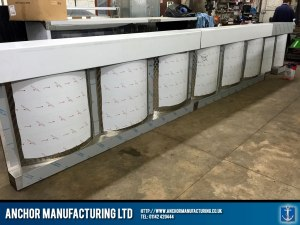 Steel Chip shop counter panel
