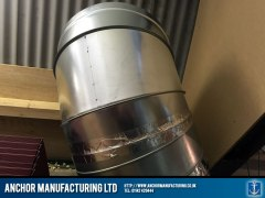 Air extraction ducting corner piece