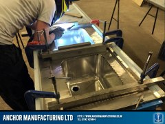 Clamps ensure secure welding