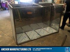 Sheffield stainless steel storage inside