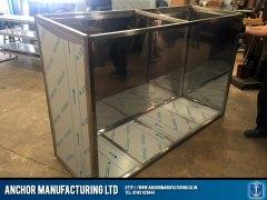Sheffield stainless steel storage inside space