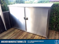 The finished stainless steel storage unit