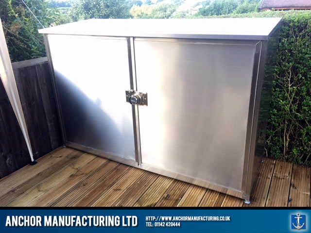 The finished stainless steel storage unit & Sheffield Kitchen Canopy u0026 Kitchen Equipment fabrication | Anchor ...