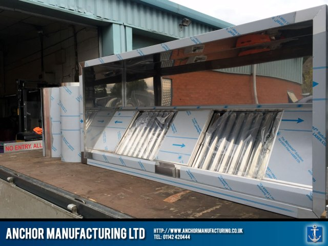 Kitchen Extraction Canopy from Sheffield van