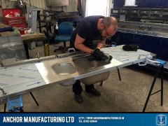 Kitchen sink fabrication process