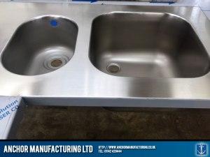 Stainless steel sink fabrication sink weld detail