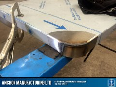 Stainless steel sink fabrication weld corner