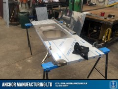 Stainless steel sink fabrication