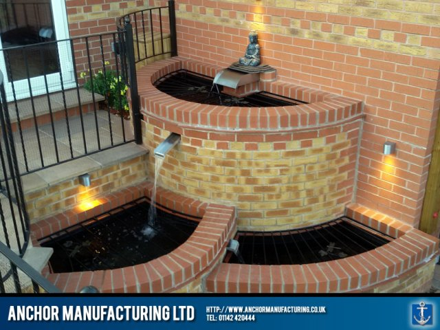cascade stainless steel water pond feature