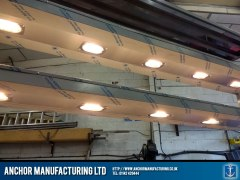 stainless steel hot cupboard halogen lighting gantry