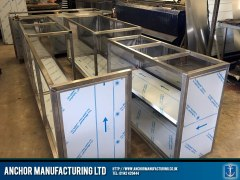 stainless steel shop counter frame