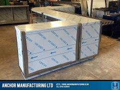 stainless steel shop counter z shape