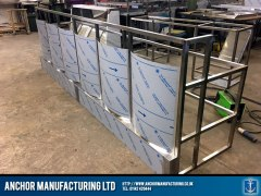 fish and chip shop counter frame