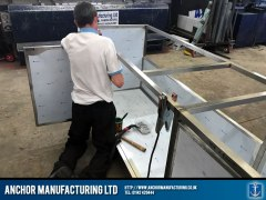 stainless steel sink frame fabrication