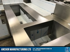 stainless steel worktop sink polished