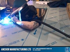 stainless steel kitchen worktop welding