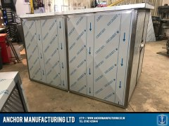 stainless steel shed anti theft Shed side