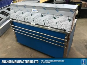 Contemporary hot cupboard buffet equipment dropped slide