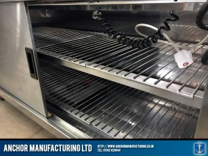Contemporary hot cupboard buffet equipment inside