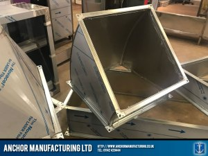 Stainless Steel Extraction Ducting part Fabrication Section 1