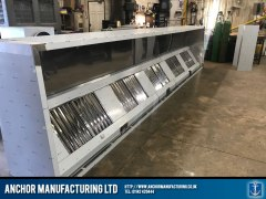 Commercial Kitchen 8 metre extraction canopy grills
