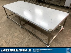 Stainless Steel Mortuary Table perspective