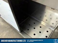 Stainless Steel custom hot cupboard detail