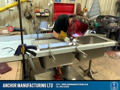Sheffield Stainless Steel KItchen Sink Welding