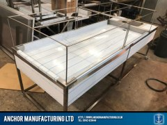 Sheffield Stainless steel framed mortuary table