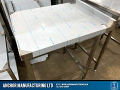 Sheffield Stainless steel kitchen wall bench