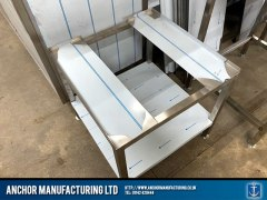 Sheffield stainless stee wal bench customised