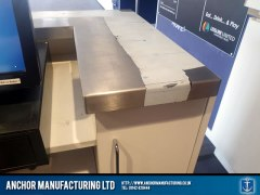 Stainless Steel Work Counter Edge Detail