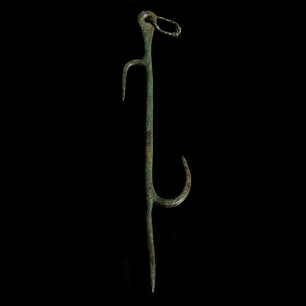 Ancient Roman Bronze Hook