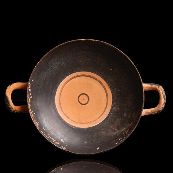 Rare Attic Figural Footed Kylix