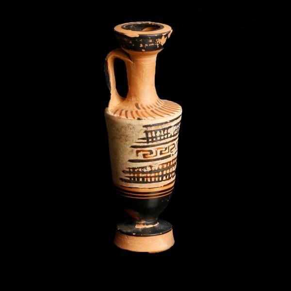 Attic Lekythos with Geometric Decoration