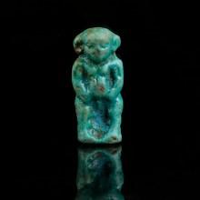 Blue Faience Pataikos Amulet