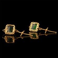 Byzantine Earrings with Cross Pendants
