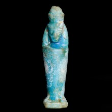 Egyptian Faience Statuette Amulet