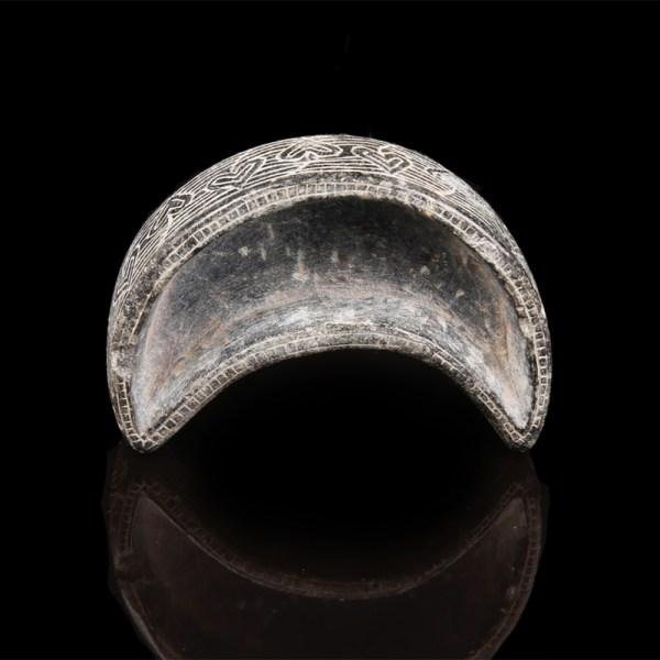 Elamite Crescent Shape Stone Vessel