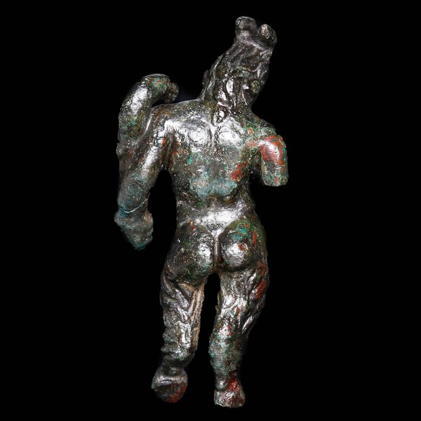 Greek Bronze Satyr Statuette