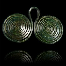 Large Bronze Age Spectacle Fastener