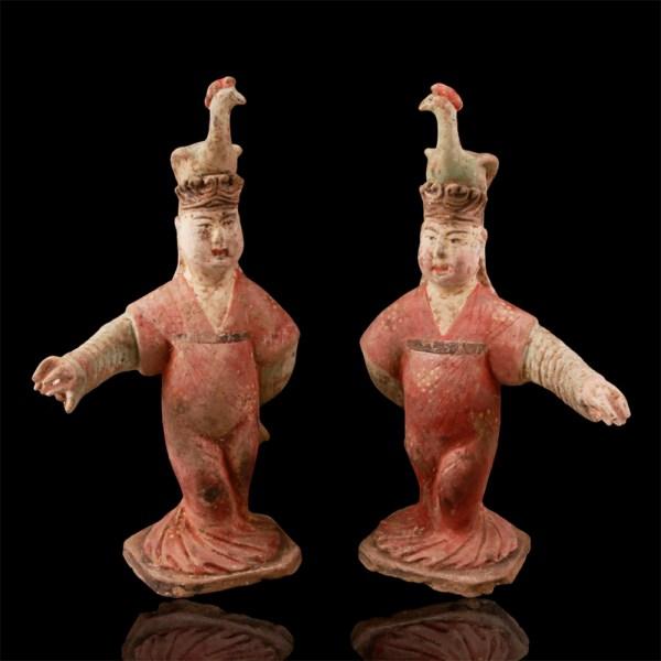 Pair of Tang Dynasty Dancers
